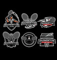badminton logo and badge set image