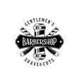 barber shop vintage label badge or emblem on vector image vector image