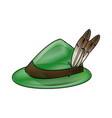 bavarian oktoberfest style hat with a feather vector image