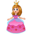 beautiful princess in pink dress vector image