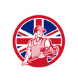 british plumber and gasfitter union jack icon vector image vector image