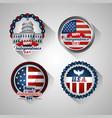 bundle presidents day set emblems vector image vector image