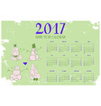 calendar for New Year 2017 vector image