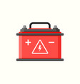 car battery flat icon electric accumulator vector image