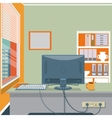 Cartoon office interior vector image
