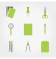 Chancellory Office supplies vector image vector image