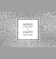 christmas and new year background with silver vector image vector image