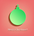 Christmas ball in vintage style vector image