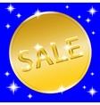 coin gold button vector image vector image