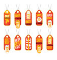 collection of sale labels price tags banners vector image vector image