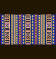 colorful mosaic oriental kilim rug with vector image vector image