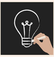 creating ideas on chalk board vector image vector image