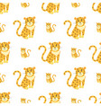 cute leopards flat seamless pattern vector image vector image
