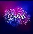 dubai hand written lettering text vector image
