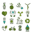 Ecology and waste icons set color vector image vector image