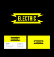 electric yellow flat logo lightning vector image