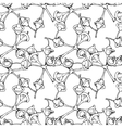 Eucalyptus flower and buds pattern vector image vector image