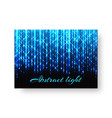 festive poster with neon light vector image vector image