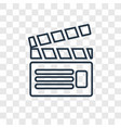 filmmaker concept linear icon isolated on vector image