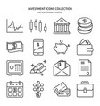 finance and money icon set in line style vector image vector image