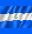 flag nicaragua realistic icon vector image vector image