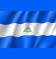 flag nicaragua realistic icon vector image