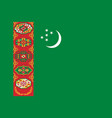 flag of turkmenistan official colors proportions vector image