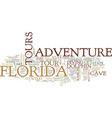 florida adventure tours text background word vector image vector image