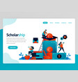 for scholarship landing page scholarship program vector image vector image