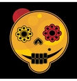 Funny skull face vector image vector image