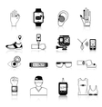 Gadgets and devices icons set vector image vector image