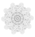 Graphic Mandala with waves and curles Zentangle vector image vector image
