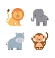 group animal cute icon vector image vector image