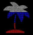 halftone russian island tropic palm icon vector image