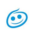 happy baby simple brush symbol design vector image