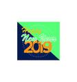 happy new year logo banner vector image vector image