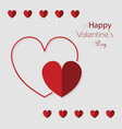 happy valentines day greeting card beautiful love vector image