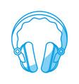 headphone gadget icon vector image vector image