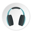Headphone icon flat style vector image vector image