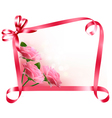 Holiday background Colorful flowers with pink bow vector image vector image