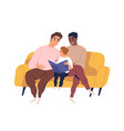 homosexual married couple spend time together with vector image vector image