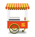 Hot dog street cart vector image