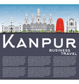 Kanpur Skyline with Gray Buildings vector image vector image