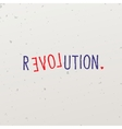 Letters forming word game with revolution vector image