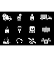 Logistics icons vector image vector image