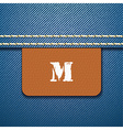 M size clothing label vector image vector image