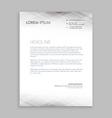 minimal white letterhead design vector image vector image