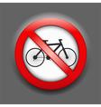 No Bicycle Sign vector image vector image