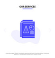 our services report presentation pie chart vector image