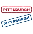 Pittsburgh Rubber Stamps vector image vector image